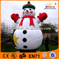 outdoor cheap 20ft christmas dancing santa snowman