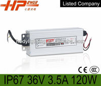 manufacturer CE RoHS constant voltage waterproof IP67 36v switching mode power supply ac dc regulated 120w led driver