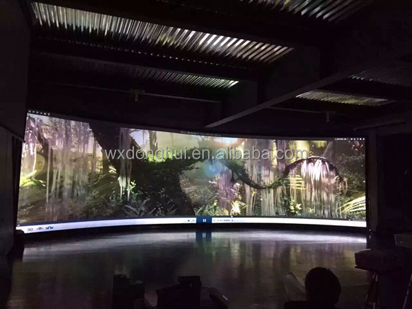 3D Curved Fixed Frame projector Screen / Curved Projection Screens