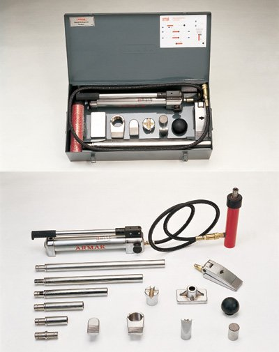 hydraulic body repair jack-plug in type
