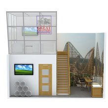 3x3 trade show portable display stand 10*20ft exhibit booth design
