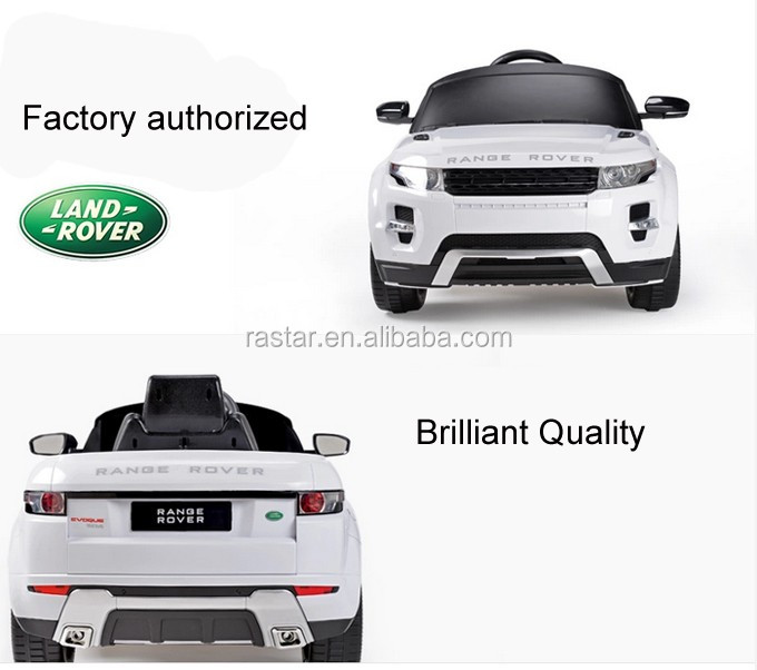Range Rover licensed car RASTAR 6v 12v ride on car plastic toy for children