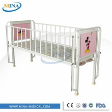 MINA-BB19 two cranks manual adult baby crib with IV pole