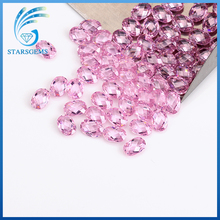 Factory price of double checkerboard pink cushion cut cz gem stone