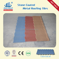 Noble/luxurious color stone coated steel metal roofing sunlight/jinhu/fuda