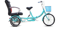 2016 Folding Three Wheel Bicycle / Tricycle