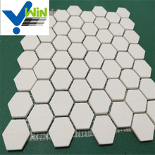 High temperature resistance alumina hex mosaic ceramic tile with wearable