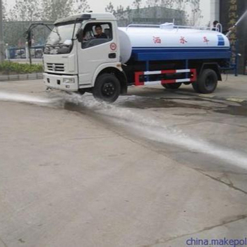 Sprinkler High Altitude Working Vehicle Street Cleaning Water Tanker Transport Truck