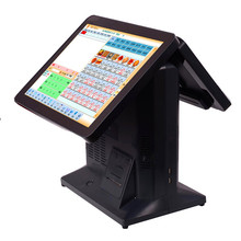 "Effecient 15"" cheap desktop pos machine with receipt printer"