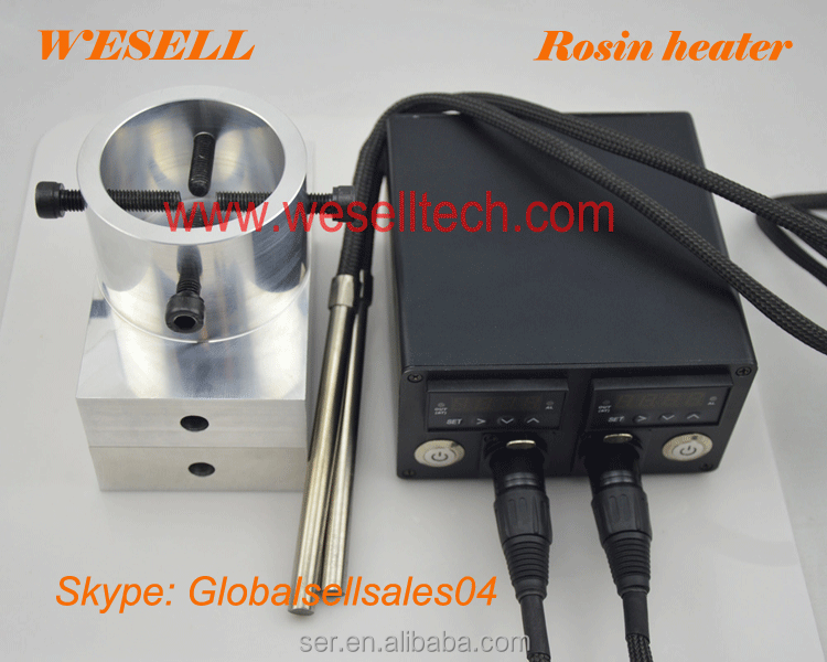 "Made in China factory 3x5"" Rosin Press Plate Kit with heating rod + double pid controller Shipping by <strong>DHL</strong> 3-5days"