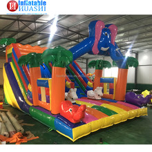 Cheap outdoor and indoor Elephant theme kids bouncy jumping castle inflatable bouncer for sale