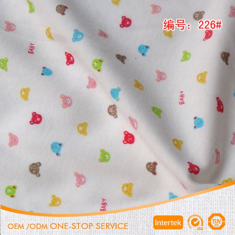 For baby cloth 100% cotton double knit print jersey fabric