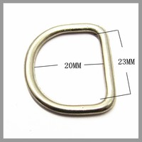 Zinc Alloy Hardware Metal D Ring Buckle For Bags Strap