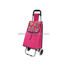 Pink polyester fold shopping carts