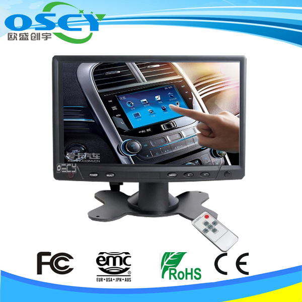 car led 7 inch touch screen monitor vga input 12v monitor