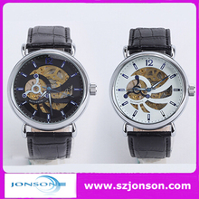 Genuine leather strap mechanical watch kit with your brand
