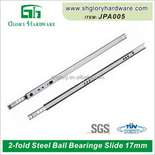 Top quality beautiful 17mm mini ball bearing drawer slide
