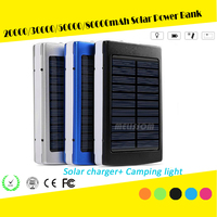 Factory Price Solar Charger Cell 20000mah Power Bank For Smartphone