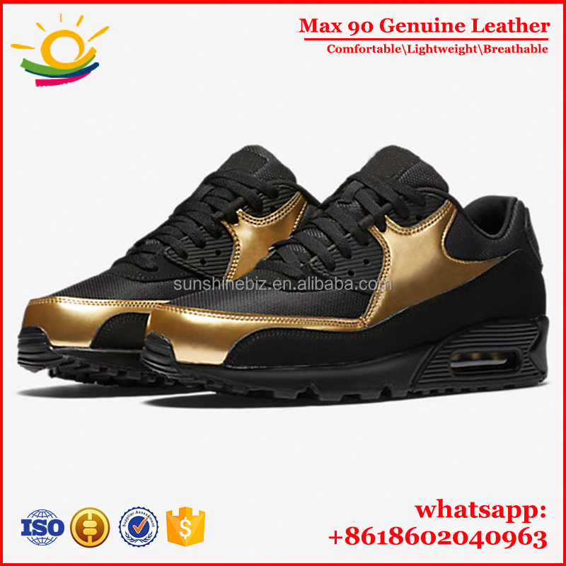 Wholesale Air 90 Cushion zapatillas deportivas Genuine Leather Sports Shoes hombre y mujer <strong>Max</strong> Colors