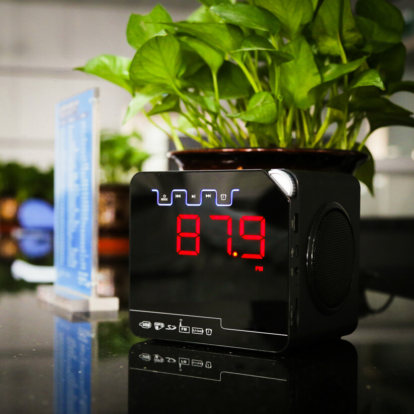 Top Wholesale Bluetooth LED Digital Speaker/Alarm Clock Wooden Speaker