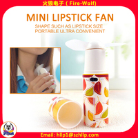 Portable Creative Lipstick Designer Fan Electric Pocket Mini Battery Fan