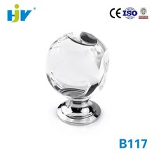 New design modern fancy clear crystal glass door knobs