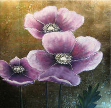 2014 new products canvas flower oil painting