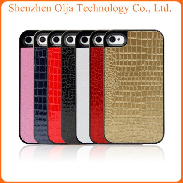 Olja New South Korea crocodile grain leather tpu case for iphone 5c, fashion cover for case iphone 5c, for iphone 5c case