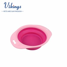 wholesale silicone collapsible foldable dog feeder pet bowl