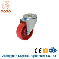 4 inch red milk trolley caster /nylon caster wheel