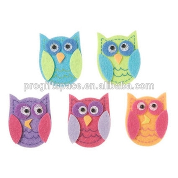 2018 hot sale unique graphic design new products custom home decoration felt owl vinyl wall stickers made in China