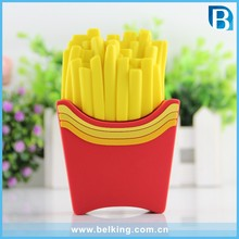 Cartoon French Fries Mobile Phone Power Supply 2300mAh Mini Powerbank For iPhone 7 7Plus
