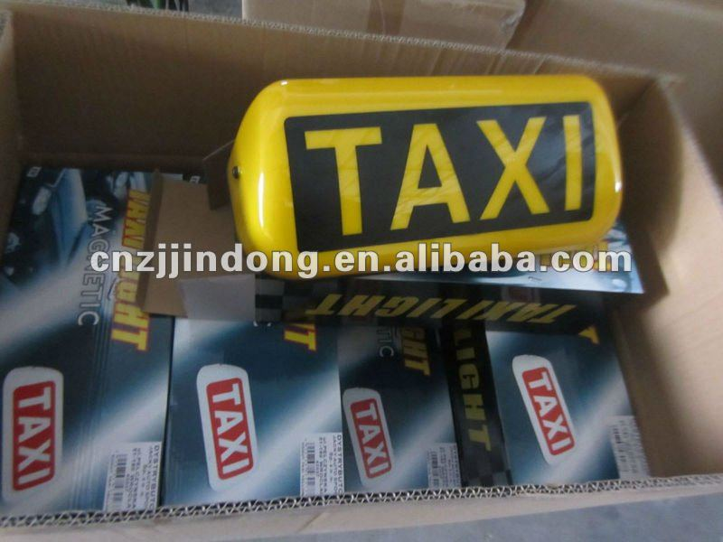 Supply yellow color magnetic 12V car taxi light