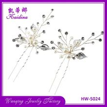 New selling silver leaf pearl bridal crystal wedding hair accessories