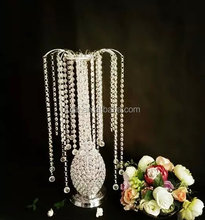 New! elegant crystal flower stand wedding crystal table centerpieces