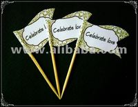Wording Personalized Party Toothpick Flag Food Pick Design 6