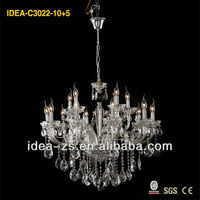 Crystal lighting decoration, crystal glass lamp shade new factory product C3022-10+5, 17 years manufacturer