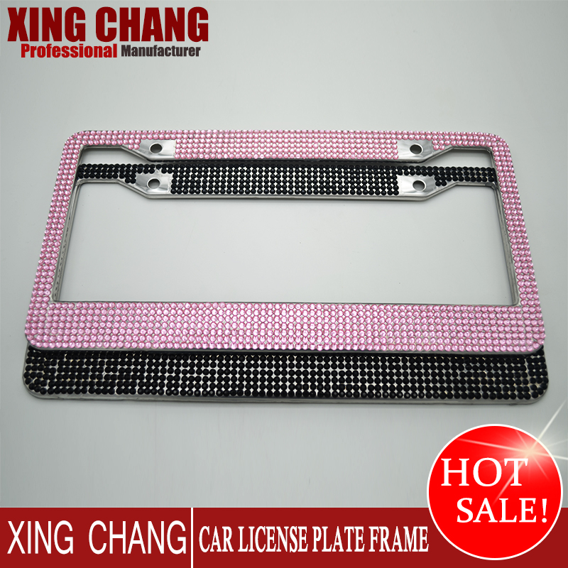 plastic chrome license plate frame car motorcycle usa america euro australia customized license number plate