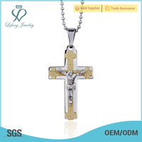 14 kt gold cross pendant accessory crossing jewelry