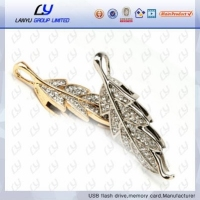 Jewerly Leaf Shape Usb Flash Drive