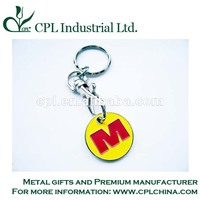 soft enamel trolley coin keyring