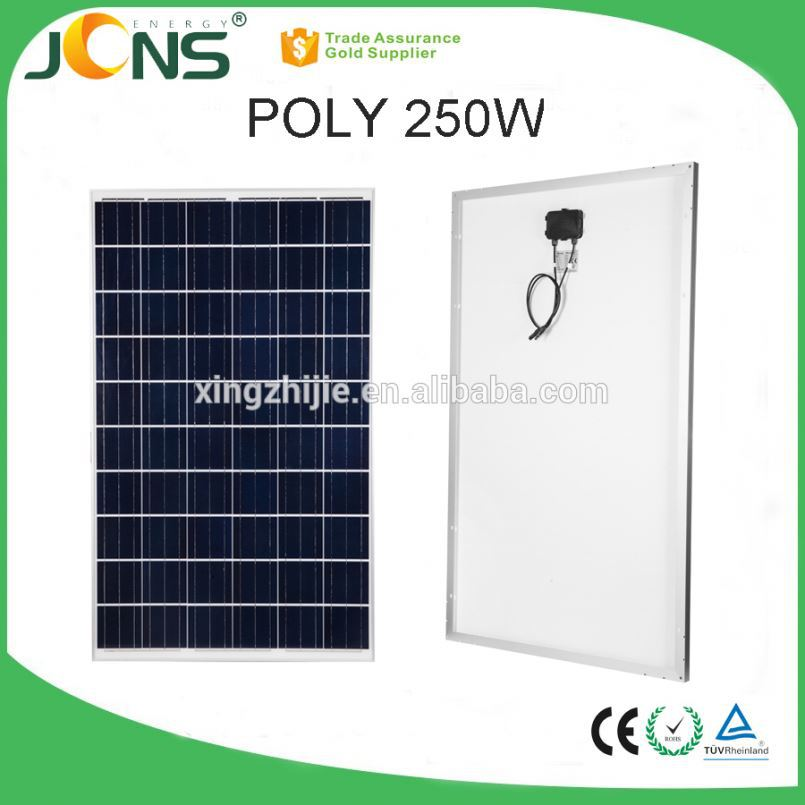 poly crystalline solar cell 270W solar panel with junction box