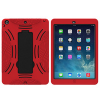 Alibaba hot selling OEM wholesale multi-color PC+Silicone cover heavy duty tablet case for Ipad Air