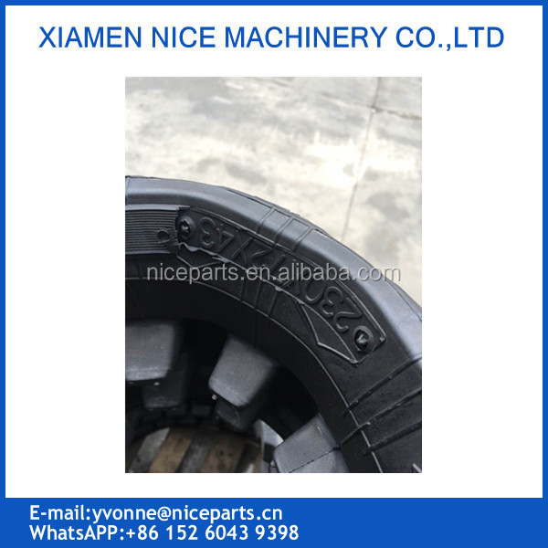 230x72x43 Rubber Chain excavator undercarriage parts Rubber Track Chain