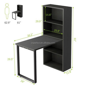 Wooden Home Office Furniture Kid Children Computer Study Desk with Bookshelf