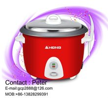 500W Pot-Style Rice Cooker & Food Steamer, Red