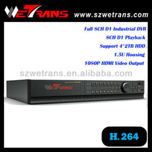 WETRANS TD-8108M 1.5U Full D1 Indutrial Standalone H.264 DVR with HDMI port and DVR CCTV Software Windows XP