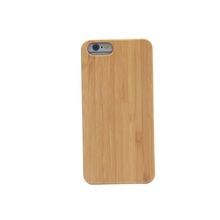 cheap Bamboo crafts cell phone case cover for iphone 6 case