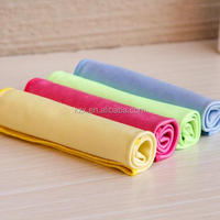 Bright Orange Microfiber Glass Window Cleaning Cloth 30cm*30cm