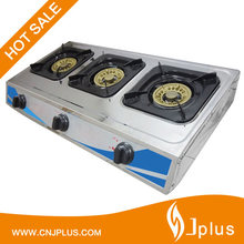 JP-GC308T Hot Selling Cheap Steel Tabletop General 3 Burner Gas Cooking Stove